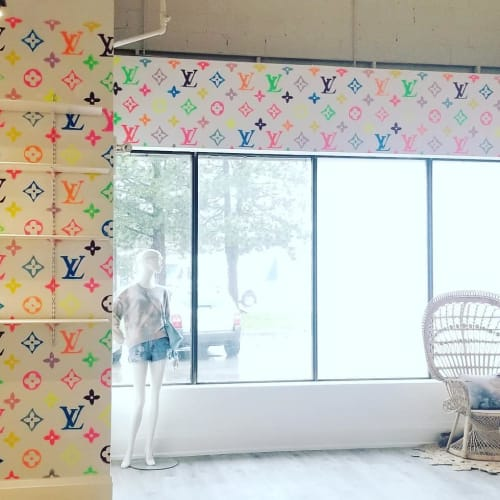 """Murals by Matt Pine seen at Fnomenal, Vaughan - """"Louis Vuitton"""" Mural"""