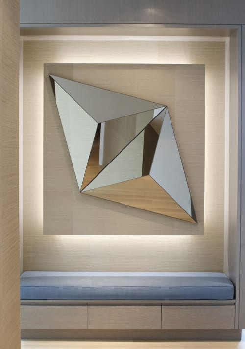 Wall Hangings by Robert Sukrachand seen at New York , NY Private Residence, New York - Volume Mirrors
