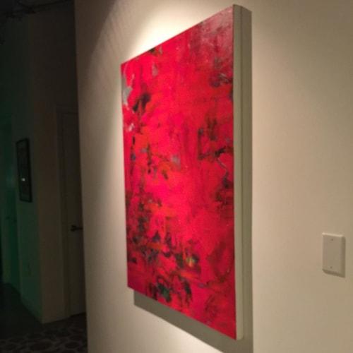 "Paintings by Julie Shunick Brown seen at The Beat Condos, Dallas - ""Awakening"""