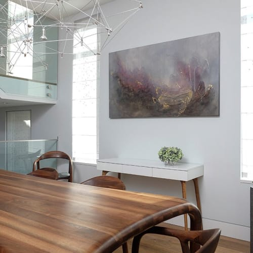 Paintings by Donna Giraud seen at Private Residence, Vancouver - Ecnalab