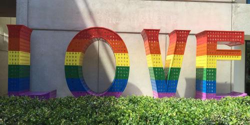 Sculptures by Laura Kimpton seen at Grand Hyatt San Francisco, San Francisco - Rainbow LOVE