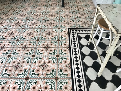 "Tiles by Avente Tile seen at Media Noche Restaurant, San Francisco - Mission Cement Tile (5-color) 8"" x 8"""