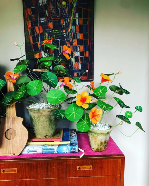 Floral Arrangements by The Green Vase by Livia Cetti seen at Private Residence, New York - Nasturtiums