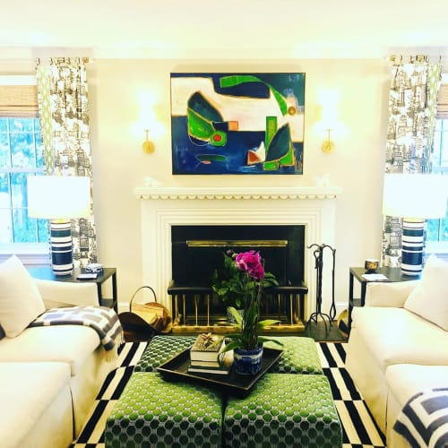 Paintings by Boo Johnson seen at Private Residence, Chevy Chase - 'Take Part' Modern Painting