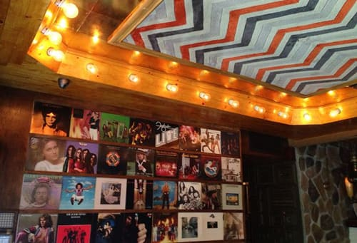 Interior Design by Houston Hospitality seen at Good Times at Davey Wayne's, Los Angeles - Vintage Vinyl Covers