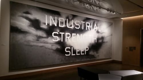 Paintings by Edward Ruscha seen at The ART, a Hotel, Denver - Industrial Strength Sleep