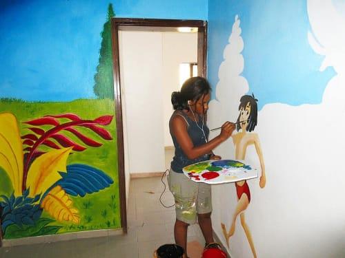 Murals by Cera Cerni seen at Private Residence, Lekki - Jungle Mural