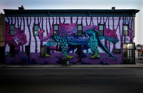 Murals by Jari WERC Alvarez seen at Guadalupe Inn, Brooklyn - Unleashed