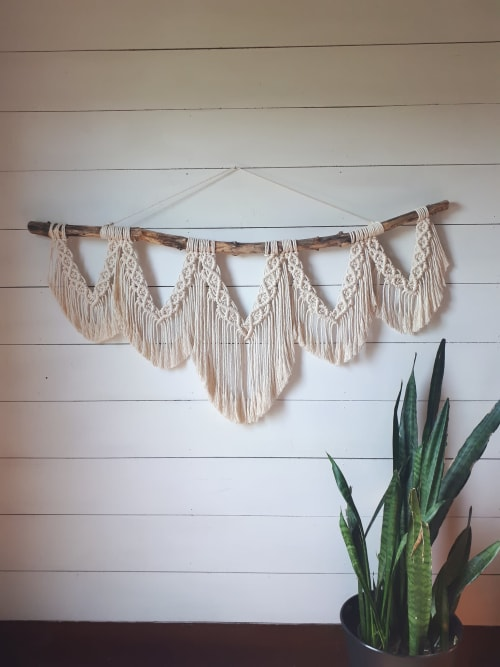 Macrame Wall Hanging by Little Knotty Farmhouse macrame seen at Private Residence, Niagara-on-the-Lake - Handmade Macrame Wall Hanging and Basket Decor