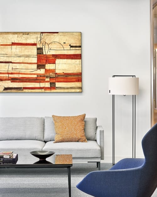 Paintings by Marc Lambrechts seen at White & Case LLP, New York - Paintings