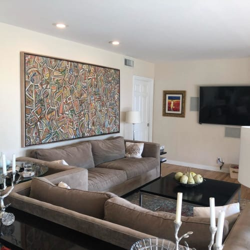 Paintings by Bruce Rubenstein seen at Private Residence, Sierra Madre - T.M.S.