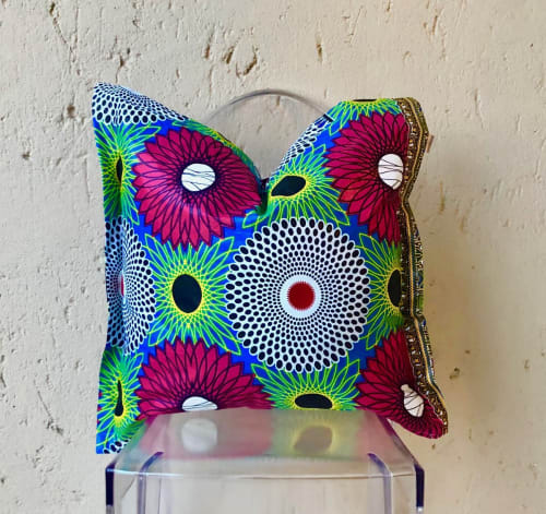 Pillows by SunBurst seen at London, London - Sawa Pink African Print