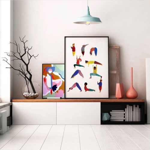 Paintings by Hang With Me Studios by Sarana Haeata seen at Stackwood, Fremantle - Yoga People Painting