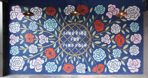 Murals by Dana Tanamachi seen at Emporium Pies - Deep Ellum, Dallas - Emporium Pies Deep Ellum Mural