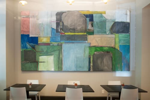 Paintings by Cate West Zahl seen at Common House, Charlottesville - Artwork