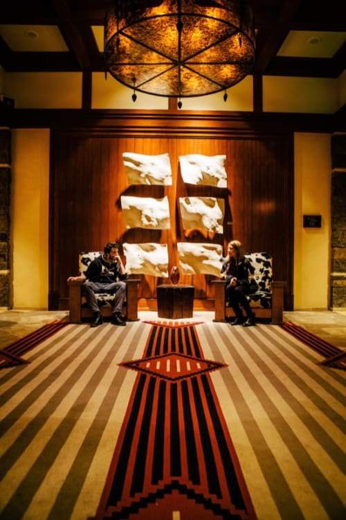 Sculptures by Christian Burchard seen at Four Seasons Resort and Residences Jackson Hole, Teton Village - Wall Sculpture