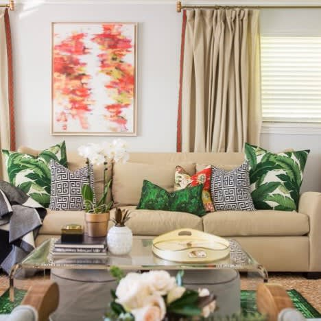 Paintings by Marquin Designs seen at Private Residence, Greenville - Pop of Red