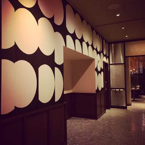 Murals by Augustus Thompson seen at Kimpton Hotel Eventi, New York - Circle Mural