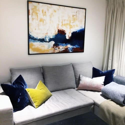 Paintings by Omar Obaid seen at Private Residence, London - Commissioned Painting