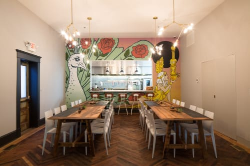 Murals by Mickael Broth seen at Common House, Charlottesville - Times of Gold