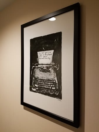 Paintings by Samuel Messer seen at Archer Hotel New York, New York - Typewriter
