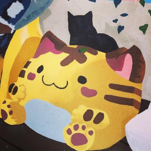 Feline Good   Street Murals by WHOSVLAD   Feline Good Social Club in Long Beach