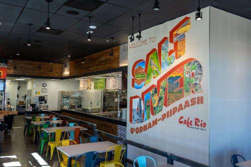 Murals by Josh Scheuerman seen at Cafe Rio Mexican Grill, Boise - Salt River Mural