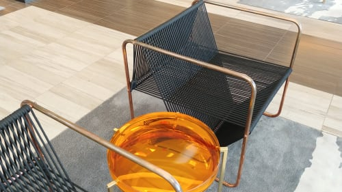Chairs by Ruiz Solar seen at InterContinental Los Angeles Downtown, Los Angeles - Chair Copper