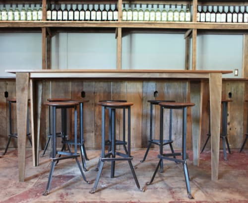 Chairs by Brendan Ravenhill seen at Osteria La Buca, Los Angeles - Bar Stools Angle