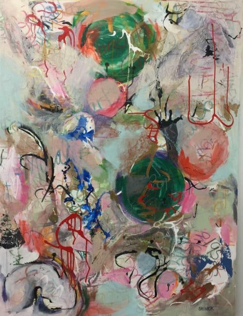 """Paintings by Julie Shunick Brown seen at Crespi-Hicks Estate, Dallas - """"Sunday"""""""