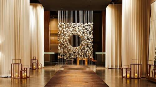 Sculptures by Lee Jae Hyo seen at Delano Las Vegas, Las Vegas - Suspended Stone