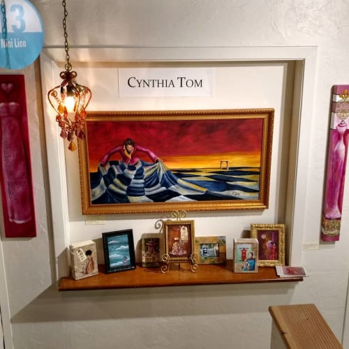 Paintings by Cynthia Tom Art seen at Art Works Downtown, San Rafael - Paintings