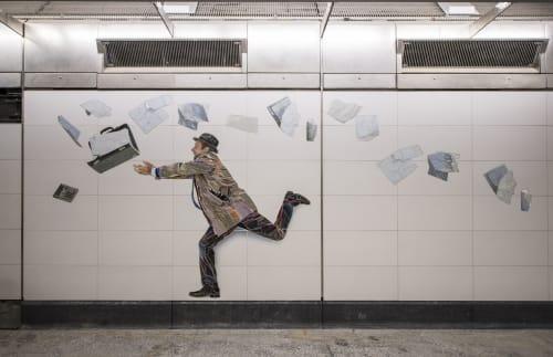 Street Murals by Vik Muniz seen at 72nd Street, 2nd Avenue, New York, New York - Perfect Strangers