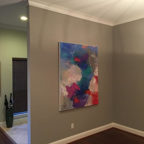 Paintings by Julie Shunick Brown seen at Private Residence, Dallas - Abstract Painting