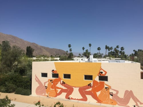 Murals by Laura Berger at Ace Hotel & Swim Club, Palm Springs - Lifting The Sun