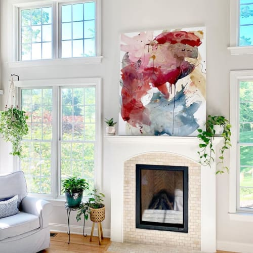 "Paintings by Pamela J. Black seen at Private Residence, Grantham - Painting: ""The Last Word"""