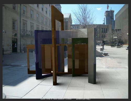 Public Sculptures by John Atkin seen at The McMurtry Gardens of Justice, Toronto - Access to Justice