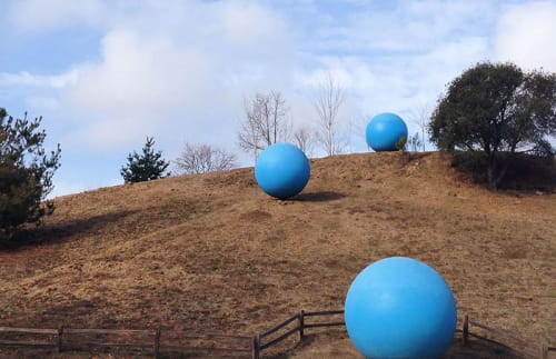 Public Sculptures by Katherine Keefer seen at Anna Jean Cummings Park, Soquel - Skyballs