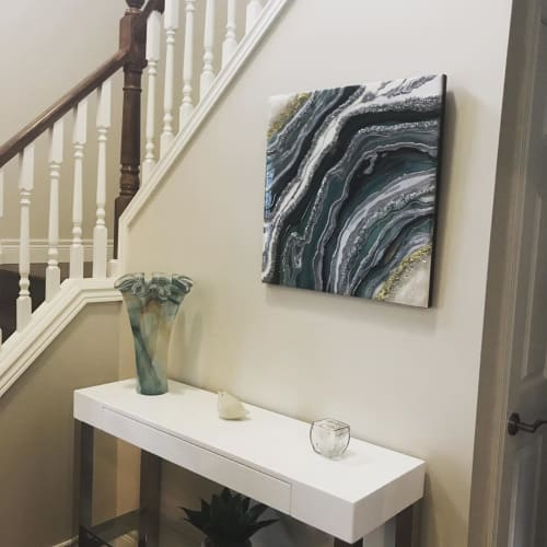 Wall Hangings by Kristi Scott seen at Private Residence, Delaware - Resin Waves Art