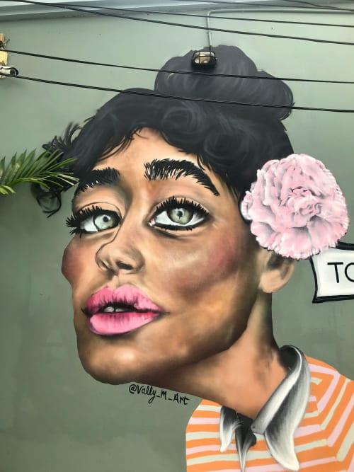 Street Murals by CALUM MEDFORTH seen at Toby's, Khwaeng Phra Khanong - Toby's Restaurant Mural
