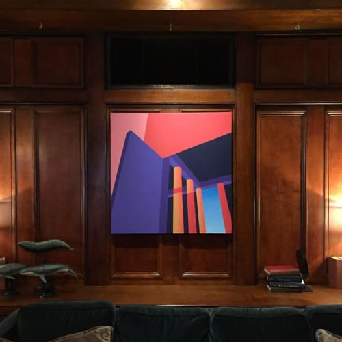 """Paintings by Troy Gua seen at Hotel Sorrento, Seattle - """"We'll Light up the Land"""""""