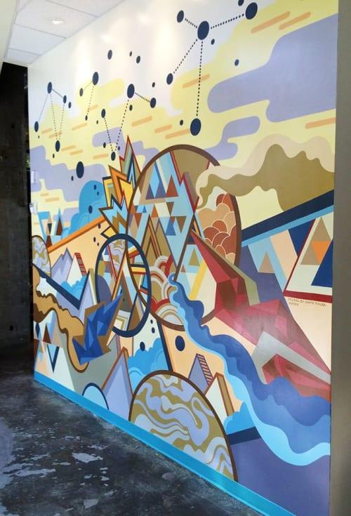 Murals by David Polka seen at Sparkart Inc., Oakland - Entrance