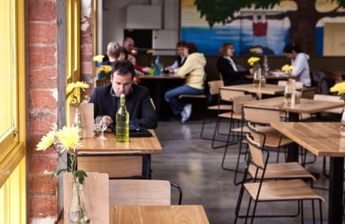 Chairs by m.a.d. furniture design at Goldilocks Bar, Melbourne - Transit Chairs