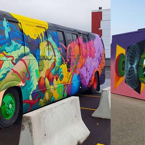 Street Murals by Uptown Murals seen at 158 Valleyview Rd, Kelowna - Mural