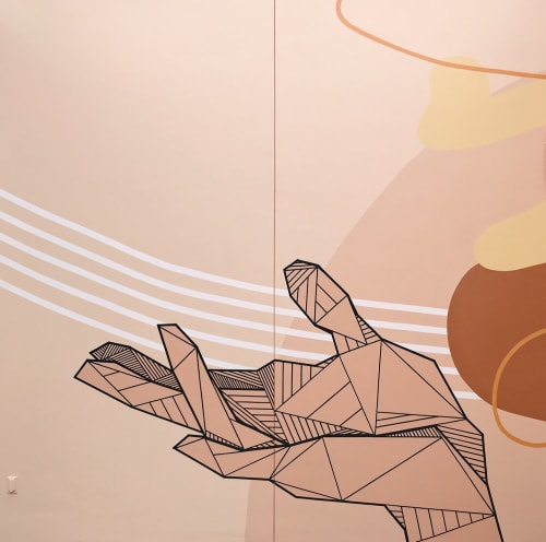 Murals by Allison Kunath seen at 555 aviation, El Segundo - Offering