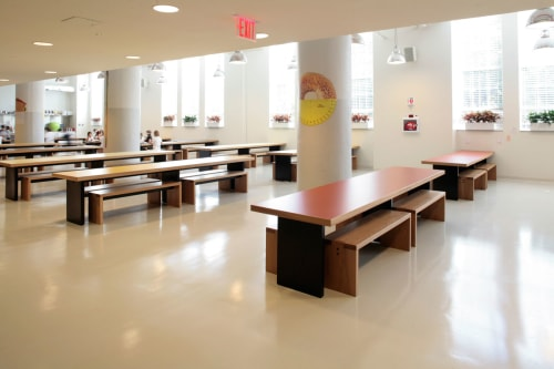 Tables by Bonetti/Kozerski Studio seen at Avenues: The World School, New York - Cafeteria Tables