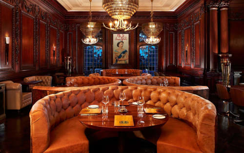 Furniture by RFP Design Group Inc. seen at BlueBlood Steakhouse, Toronto - Blueblood Steak House - Casa Loma
