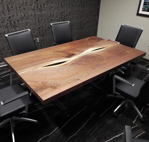 Tables by Stockton Heritage seen at Bridgewater Bank, Saint Paul - Conference Table