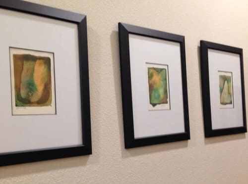 Paintings by Julie Shunick Brown seen at Private Residence, Dallas - Watercolor trio