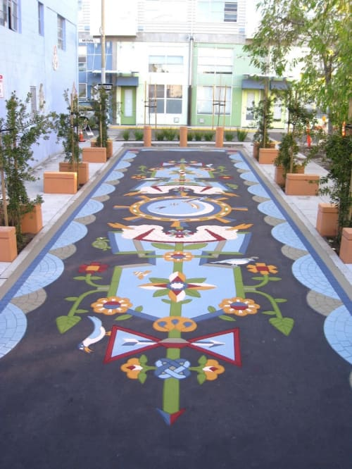Public Mosaics by Jovi Schnell seen at Tutubi Plaza, San Francisco - Evolves The Luminous Flora